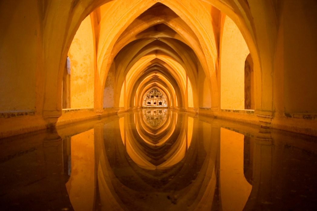 Stunning rainwater tanks of the Alcázar de Sevilla