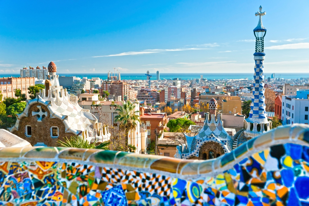 Colourful and artsy buildings in Barcelona October travel