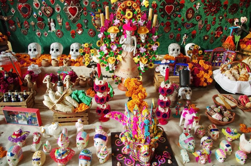 Dia de los Muertos is a holiday where skulls appear everywhere