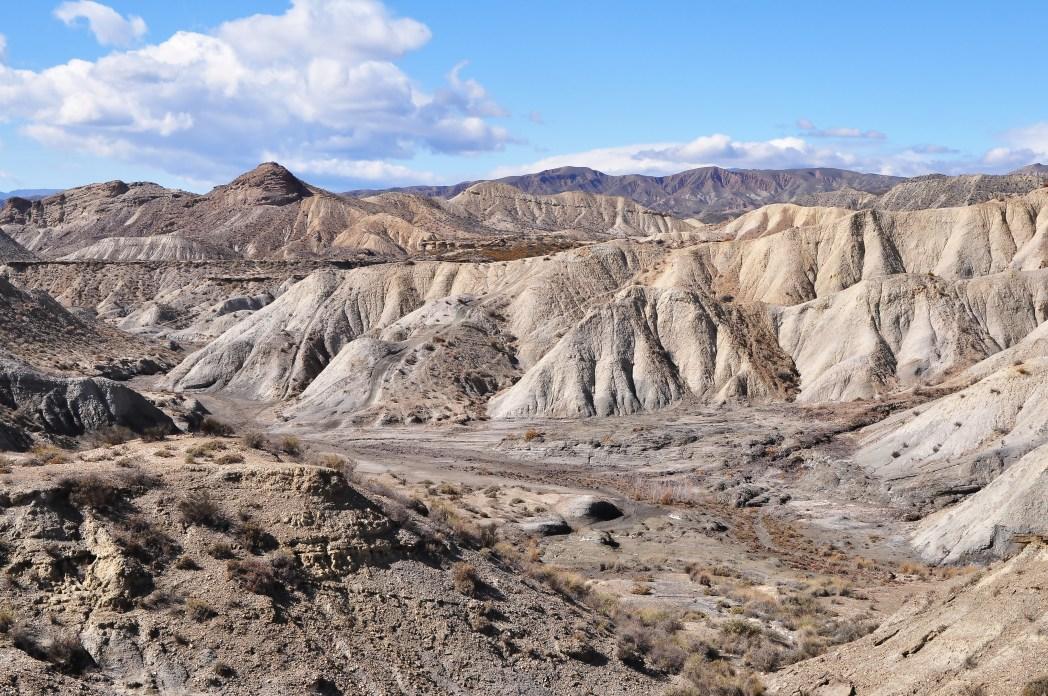 Desert and mountain landscape of Pechina