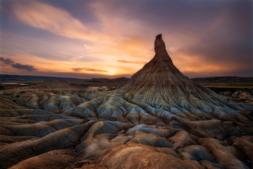 Odd and dramatic formations of Bardenas Reales, Navarre