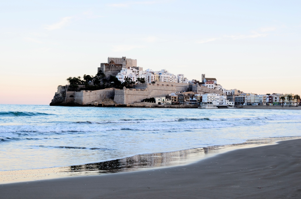 Beautiful shot of Peñiscola surrounded by beach and waters