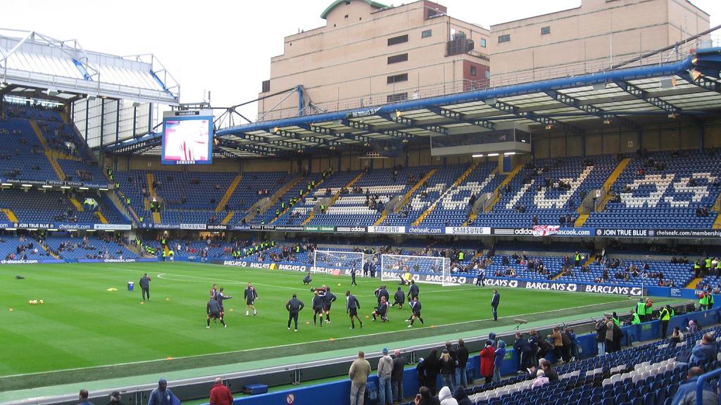 The massive Stamford Bridge is home of the Chelsea Football Club