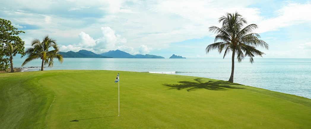 Stare out to the beautiful Andaman Sea while on the greens