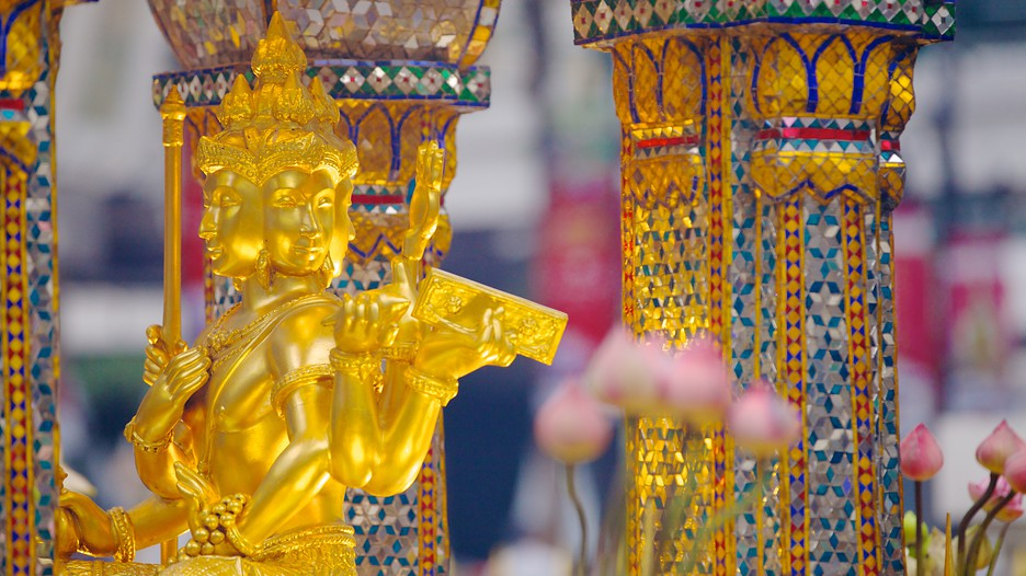 close-up of the Erawan Brahma Shrine