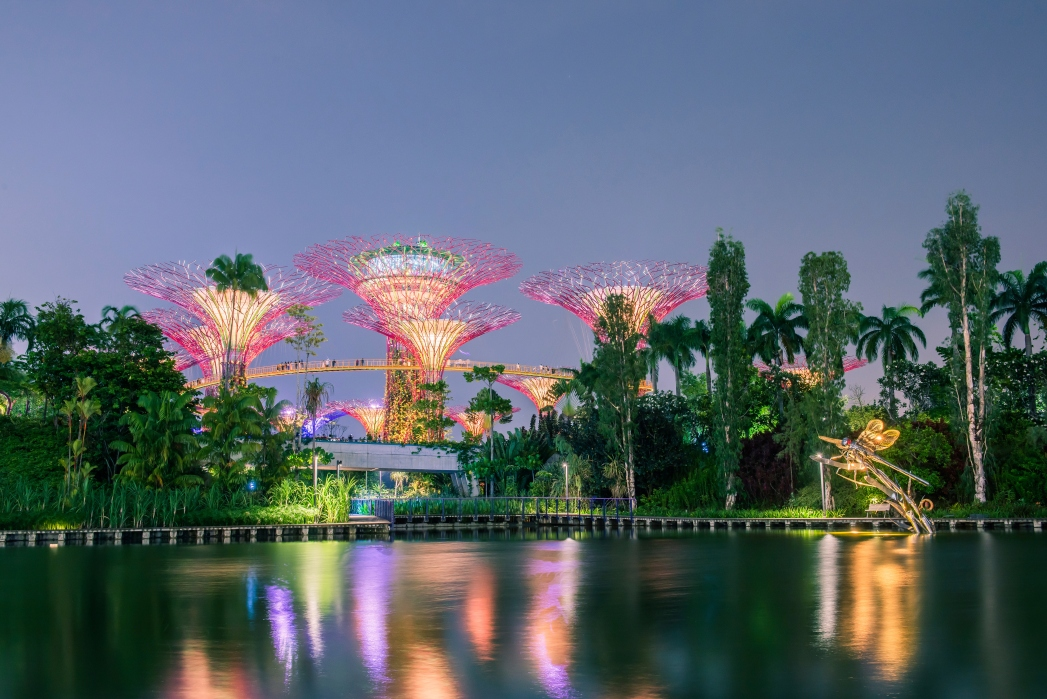Cycle from East Coast Park to Gardens by the Bay to watch fireworks at the Bay East Garden