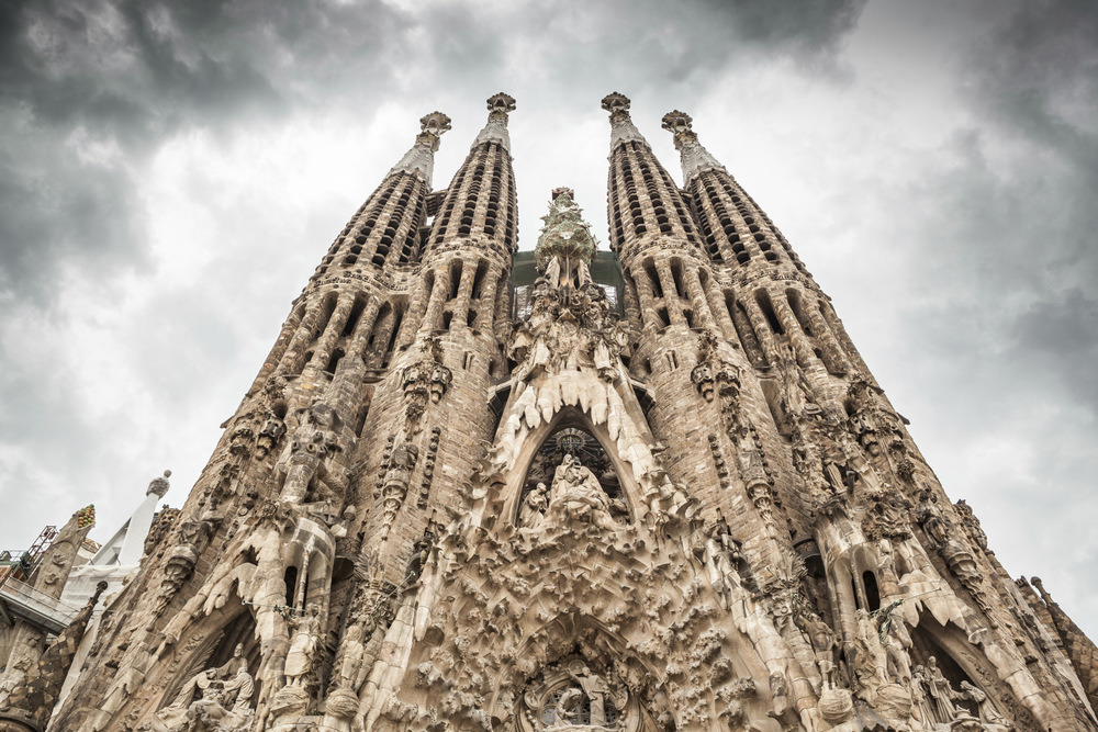 Close up of carvings on La Sagrada Família